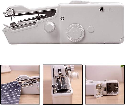 hgfter Máquina de coser portátil Mini puntada de mano inalámbrica ...