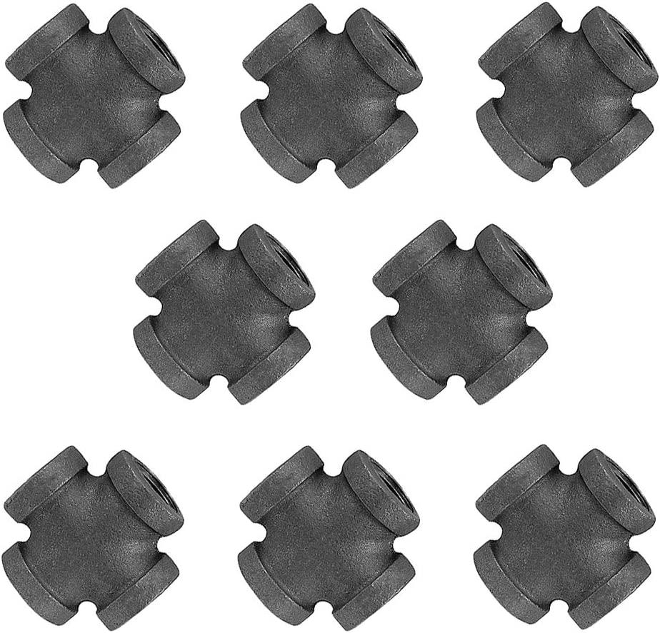 """1//2/"""" BLACK IRON PIPE FITTINGS COMBO"""