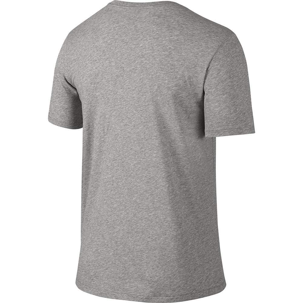 NIKE Men's Dri-FIT Cotton 2.0 Tee, Dark Grey Heather/Dark Grey Heather/Black, Small by Nike (Image #3)