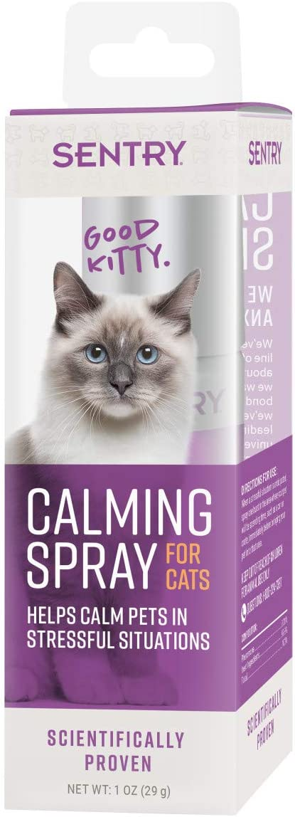 Sentry Calming Spray for Cats, Clear