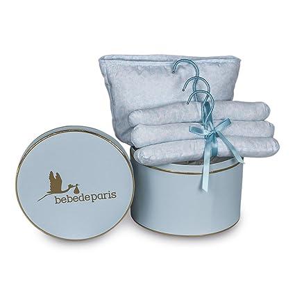 Canastilla regalo bebé Happy Vintage BebeDeParis-Azul- caja regalo ...