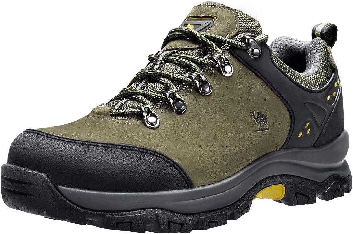 CAMEL CROWN Men's Hiking Shoes Low Top Trekking Boots Non-Slip Walking Sneaker