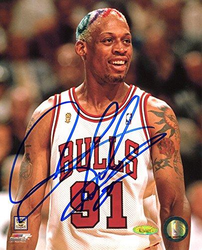 Dennis Rodman Signed Autographed Chicago Bulls 8x10 Photo Close Up TRISTAR COA Dennis Rodman Hand Signed