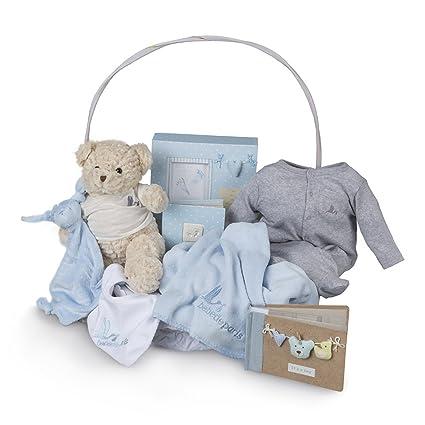 Canastilla regalo bebé Recuerdos Plena BebeDeParis-Azul- cesta ...