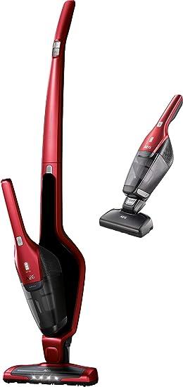 AEG CX7-2-45AN Aspiradora Escoba Sin Cable y de Mano Cepillo Mascotas, hasta 45 Minutos, 2 Velocidades, Cepillo 180º, 79dB de Ruido, Función Limpieza Cepillo, Luces Cepillo LED, Depósito 0.5L, Rojo: 193.78: Amazon.es: