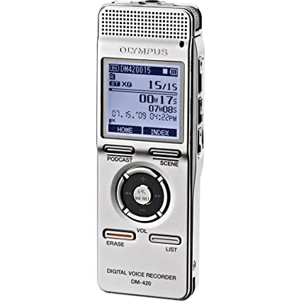 amazon com olympus digital voice recorder dm 420 electronics rh amazon com