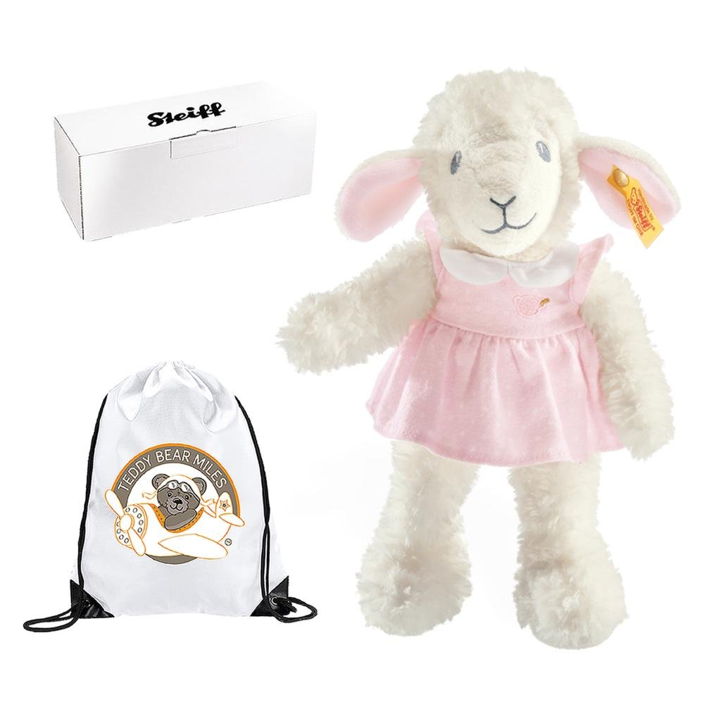 Number 1 Selling Authentic Steiff Sweet Dreams Lamb 28 cm and Reusable Gift Bag - A Furry Companion - Infants Newborn New Arrival Baby Girls Children Kids Girl Child Toddler My First Teddy Bear Gift Present Idea - Suitable From Birth Belair Gifts