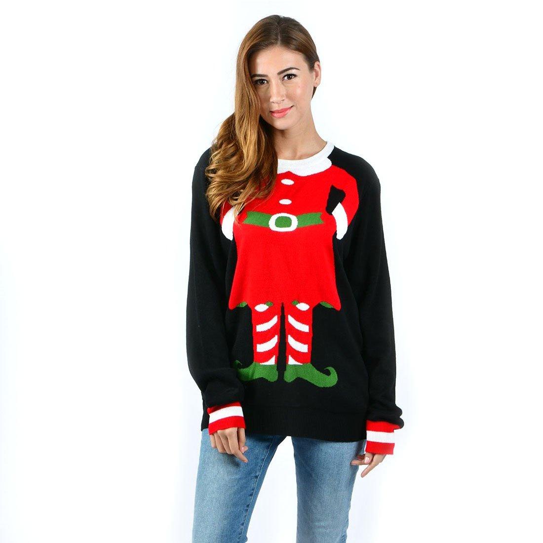 Uideazone Unisex Ugly Christmas Sweaters Long Sleeve Round Neck