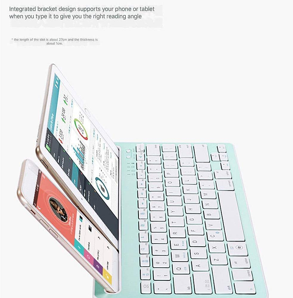 NCBH Bluetooth Smartphone Keyboard Case,Portable Mini Wireless Keyboard for Smartphones,Tablets,Indoor,Office /& Outdoor Travel,White