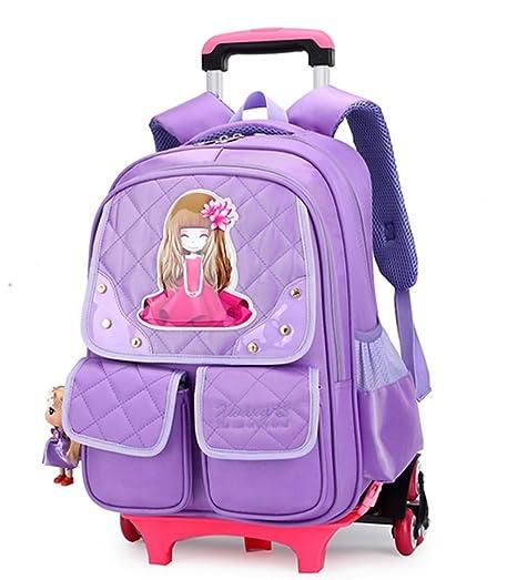 higogogo Trolley Mochila Escolar Escuela Mochila Niñas Mochilas escolares para estudiantes de grado 2 – 6