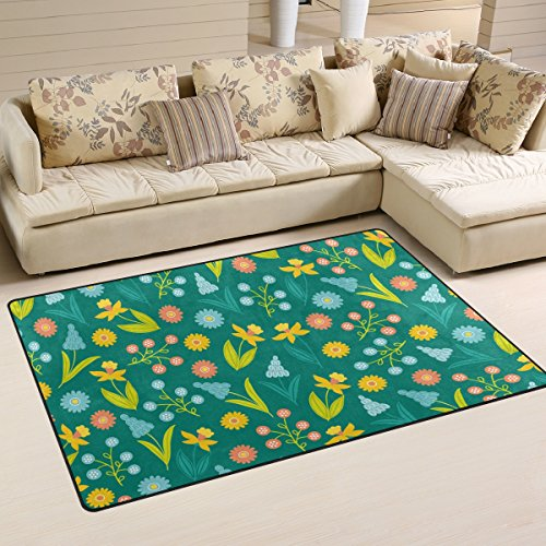 Happy Easter Day Bunny Egg Floor Mat Playmat For Dining Room