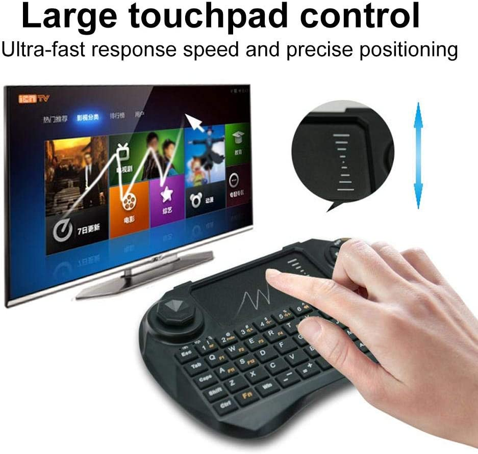 Remote Mini Touchpad Bewinner Mini Wireless Keyboard Full Keyboard Multimedia Control Air Mouse Keyboard for Windows//MacOS//Linux//Android Systems