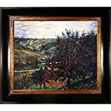 Overstockart Mon2031-Fr-240G20X24 Monet Apple Trees in Bloom At Vetheuil 1887 with Opulent Frame, Dark Stained Wood with Gold Trim