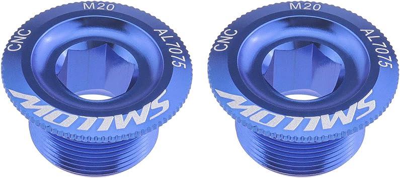 bielas dorada//azul tapas de pedalier 2 tornillos M20 para manillar de bicicleta de monta/ña de carreras