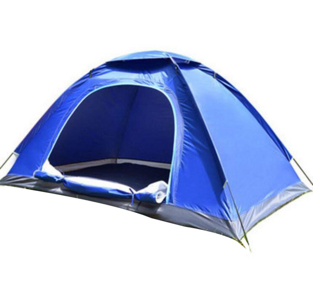 BFMEI Outdoor Regen Camping Zelt Doppel,200150110cm-DoubleHandsTakeBlau