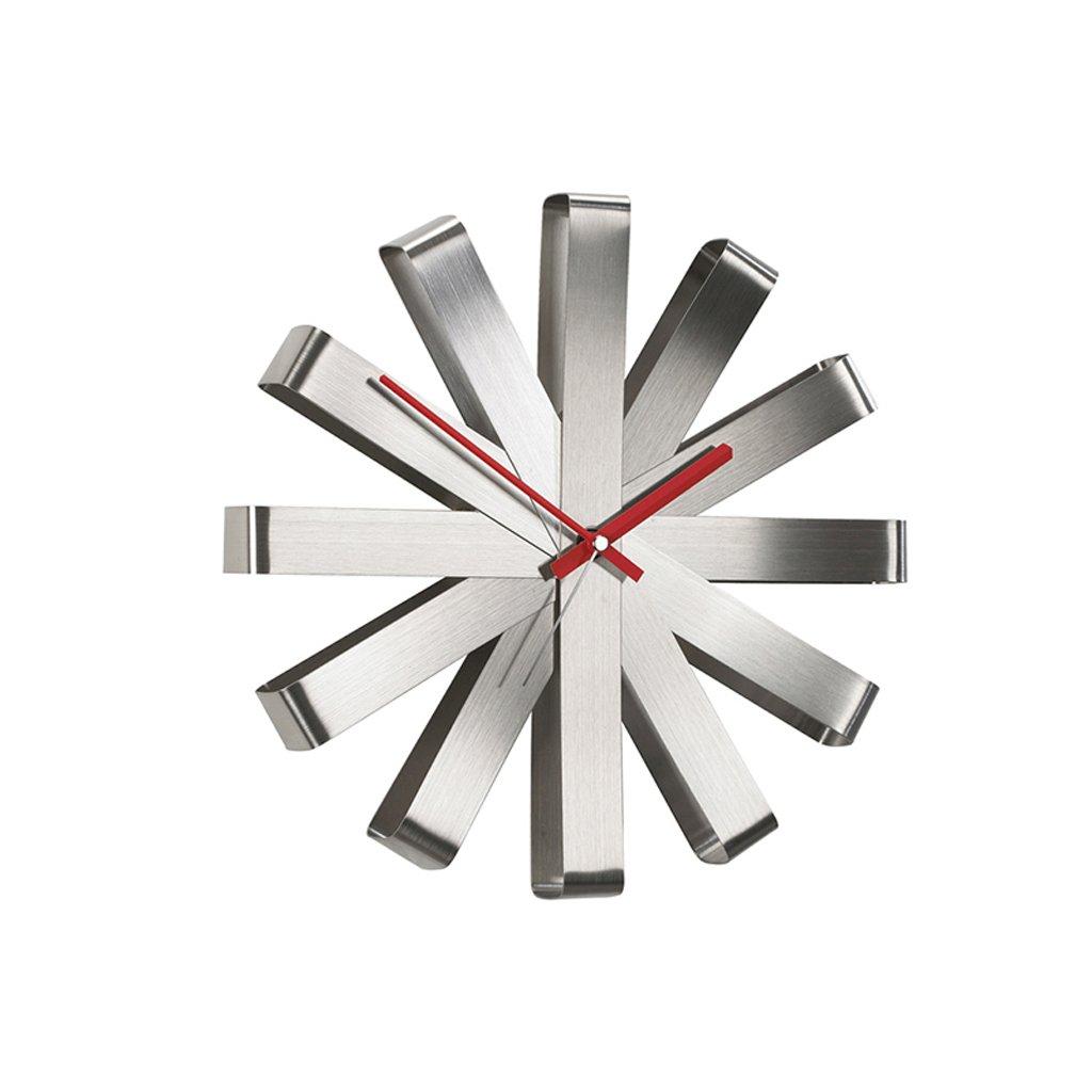 掛け時計 装飾的な壁時計12インチウォールチャートクリエイティブホームリビングルームラウンドパーソナリティモダンミニマルウォッチホームデコレーション Rollsnownow (色 : シルバー しるば゜) B07BKZY4C2 シルバー しるば゜ シルバー しるば゜