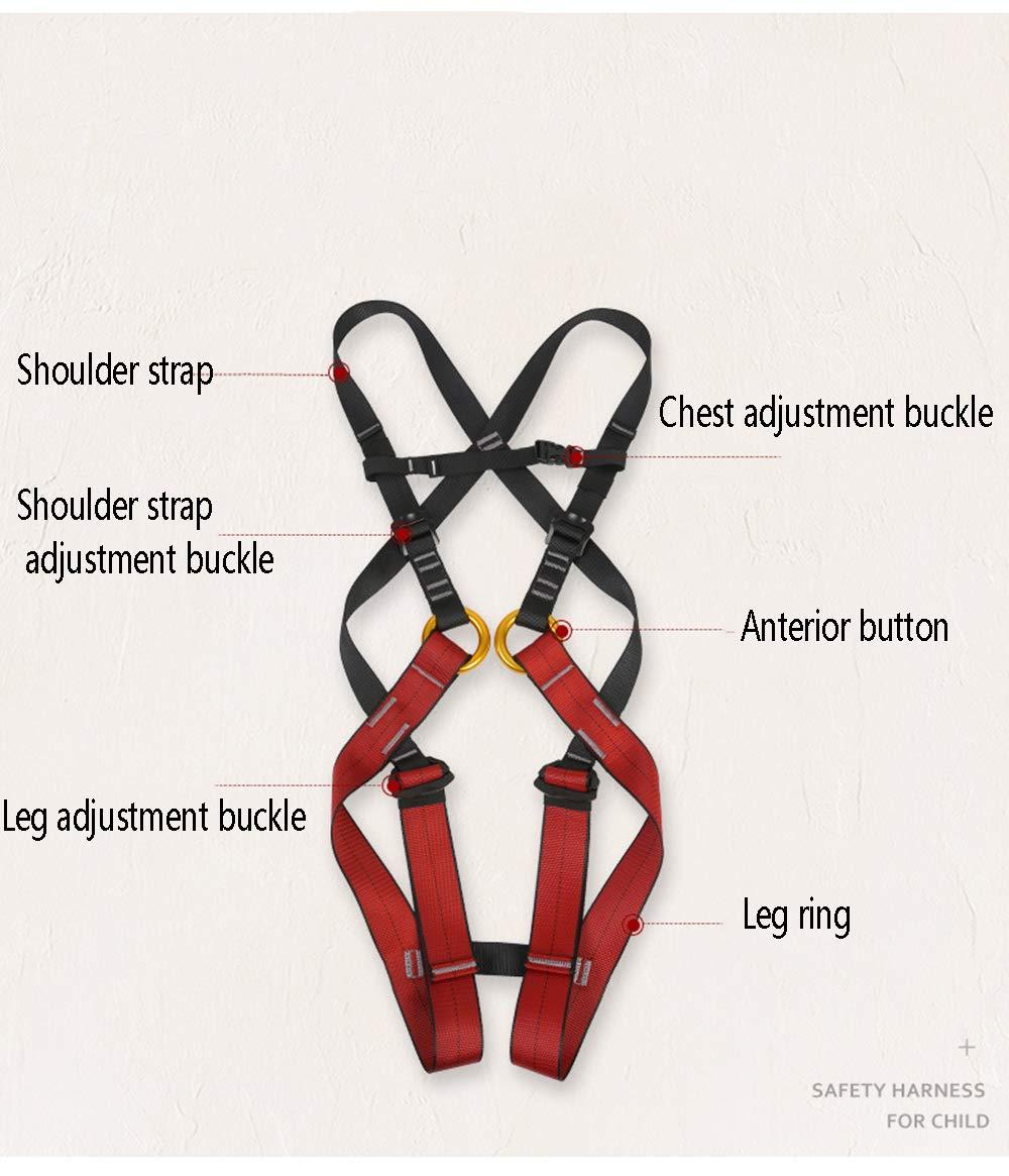 FENGSHUAI Cinturón de Seguridad para Escalada, arnés de Cuerpo ...