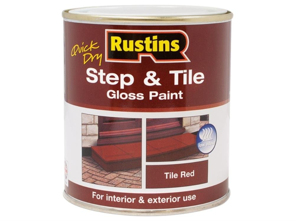 Rustins STBLW500 Quick Dry Step & Tile Black 500ml, 500 ml