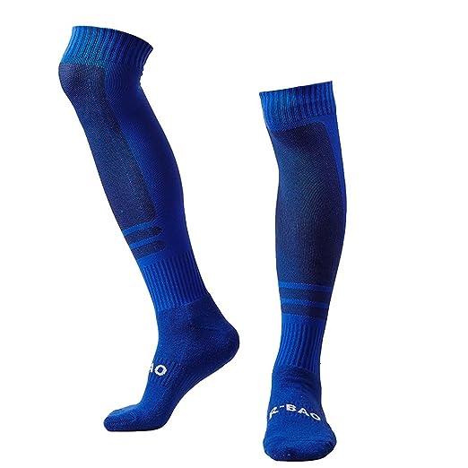 cf7907135 LANSHI Men's Soccer Socks Compression Long Sport Soccer Socks Over Knee  High Sock Competition Training Soccer