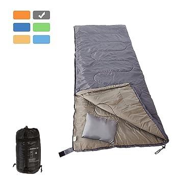 RUBEDER Saco de dormir, ligero, portátil, impermeable, comodidad con bolsa de compresión