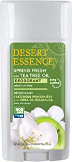 product image for Desert Essence Spring Fresh Deodorant - 2.5 Ounce - Pack of 2 - Long Lasting Protection - Propylene Glycol & Aluminum Free - Tea Tree Oil - Aloe Vera - Witch Hazel - Neutralizes Odor - Refreshing