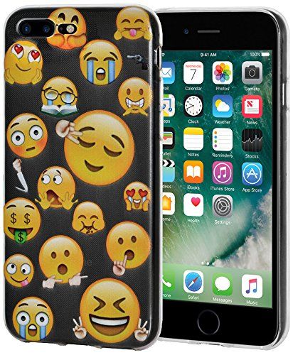 "Amzer Coque ""Mixed Emotions 5,1 cm Transparent Coussin en gel souple en TPU pour Apple iPhone 7 Plus"