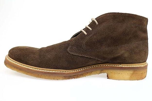 Gold Brothers AP244 Hombre Zapatos Elegantes Gamuza Marrón (41 EU) o2t7exw
