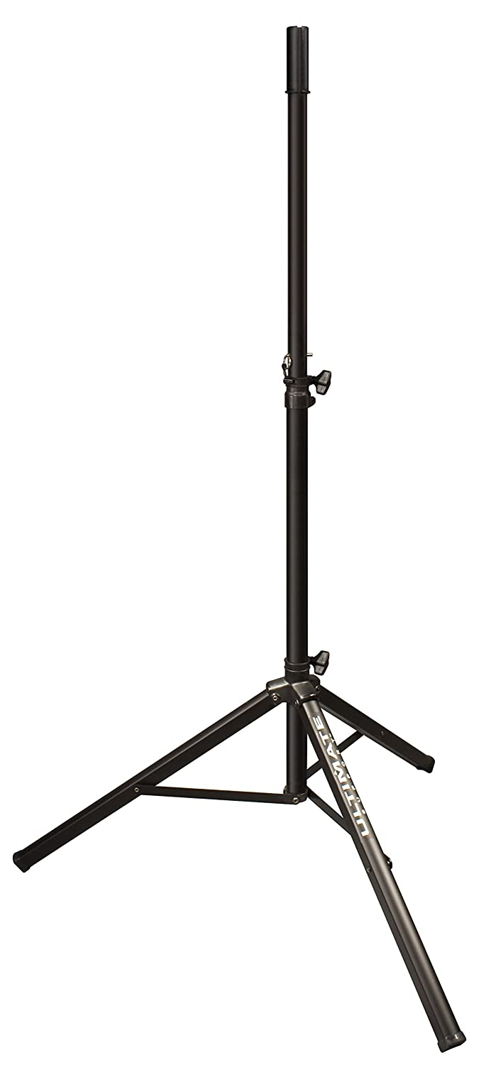 Ultimate Support TS-70B Aluminum Tripod Speaker Stand with Safe and Secure Locking Pin and 150 lb Load Capacity - Black - None -