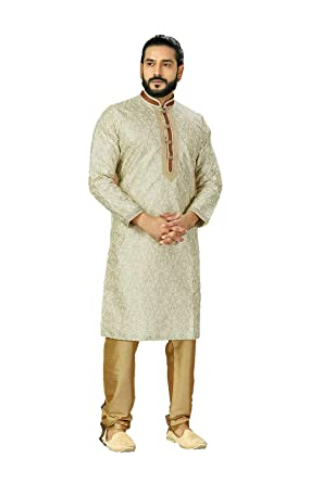 Indian Traditional Wear Mens Designer Clothing Kurta Pajama Ethnic Dress