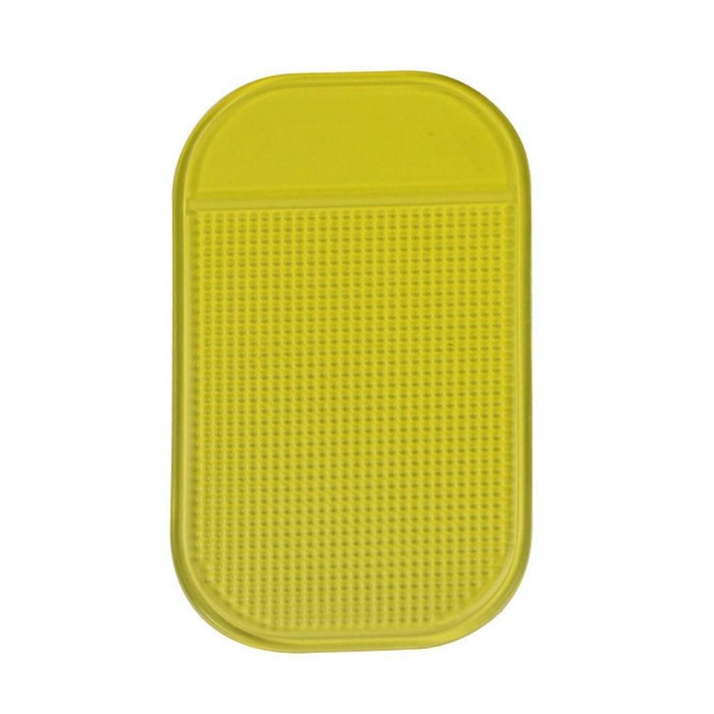 SANNYSIS Premium Cell Pads Car Magic Anti-Slip Dashboard Sticky Pad Non-Slip Mat Holder for GPS Cell Phone Yellow