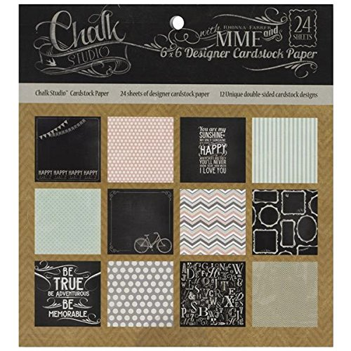 My Mind's Eye Chalk Studio Paper Pad, 6 by 6-Inch