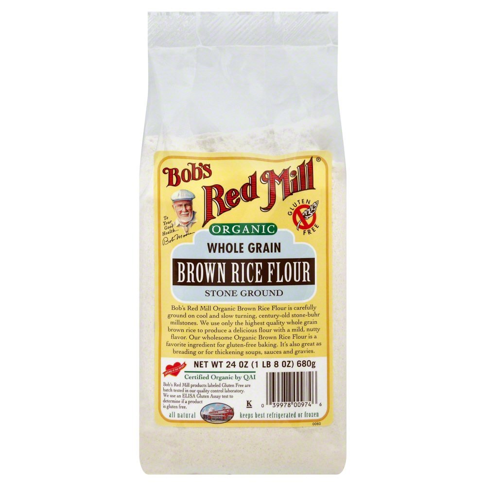 Bobs Red Mill Flour Brown Rice Whole Grain Organic 24.0 OZ(Pack of 3)