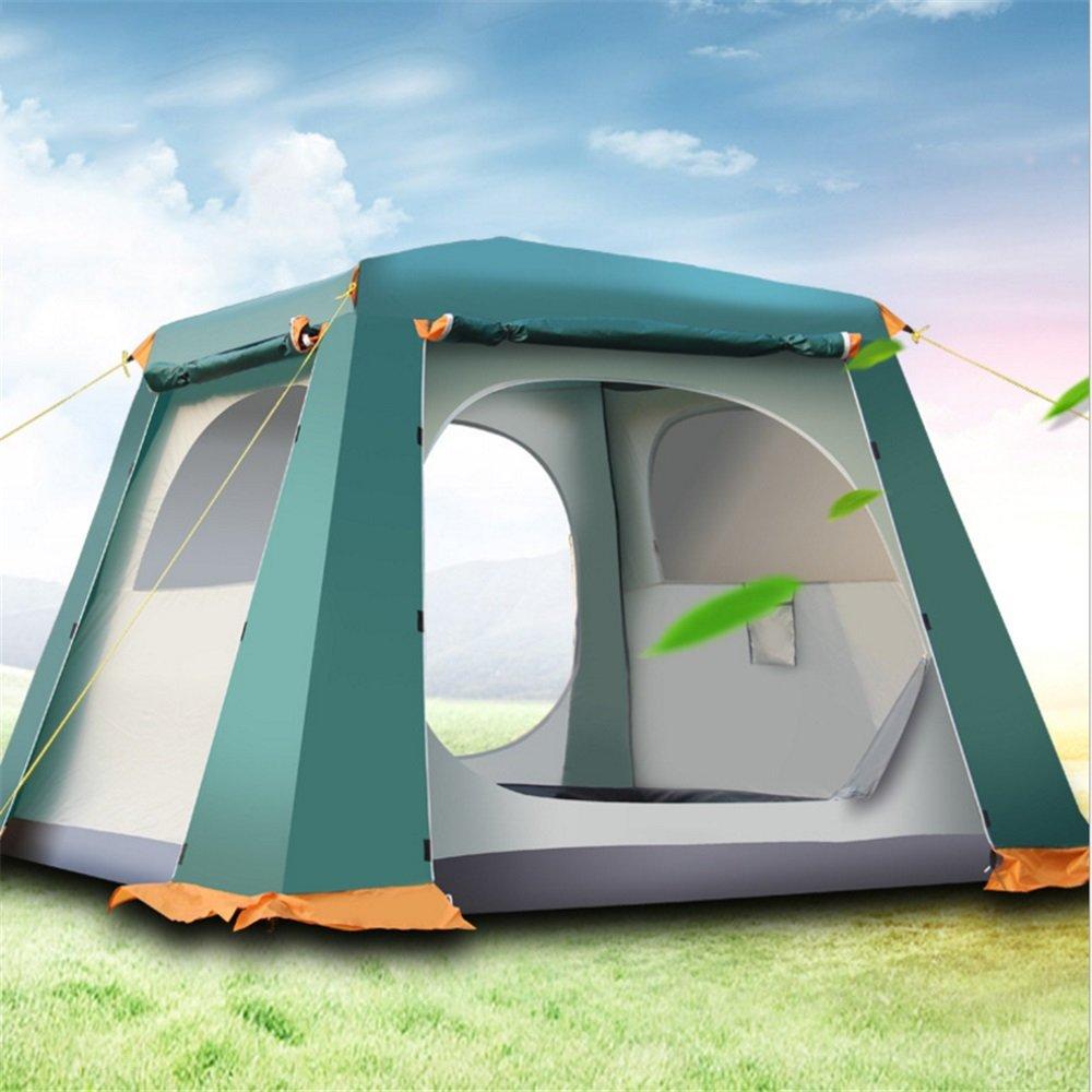 Yzibei Haltbar Im Freien automatisches Zelt-Doppelt-Campingzelt-automatisches Zelt Antisturmregen großes Zelt