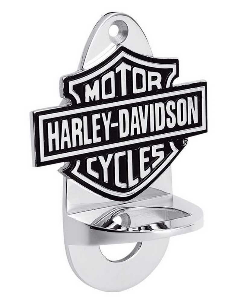 Harley-Davidson Wall Mount Chrome Bottle Opener, Bar Barware. 99333-08V