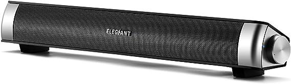ELEGIANT USB Powered Sound Bar Speakers for Computer Desktop Laptop PC