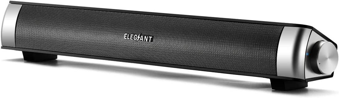 Computer Speakers Windows PC SR050 Black ELEGIANT Computer Speakers for Desktop USB Powered 6W PC Speakers with Volume Control Portable Mini Sound bar for Desktop for Desktop Laptop