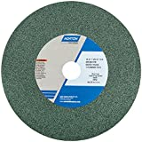 Norton 39C Vitrified Bench and Pedestal Abrasive Wheel, Type 01 Straight, Silicon Carbide, 1-1/4'' Arbor, 10'' Diameter, 1'' Thickness, 60 Grit (Pack of 1)