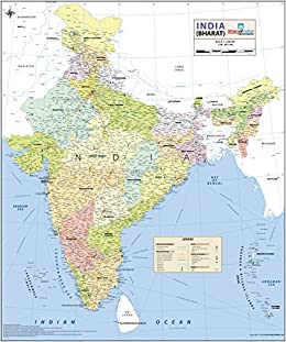 Buy India Map [Printed on Vinyl] Book Online at Low Prices in India ...