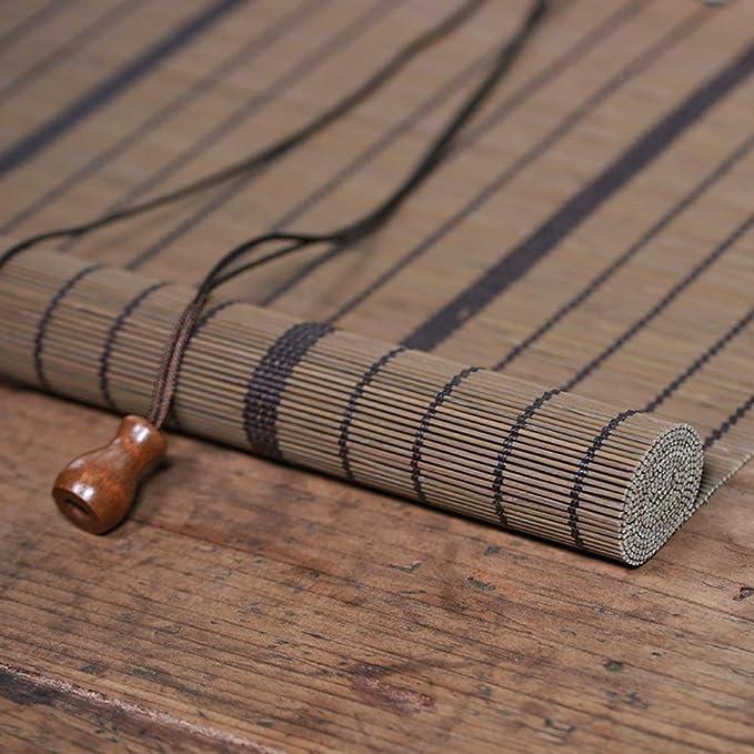 Persiana de bambú Persiana Exterior Enrollable para Terraza ...