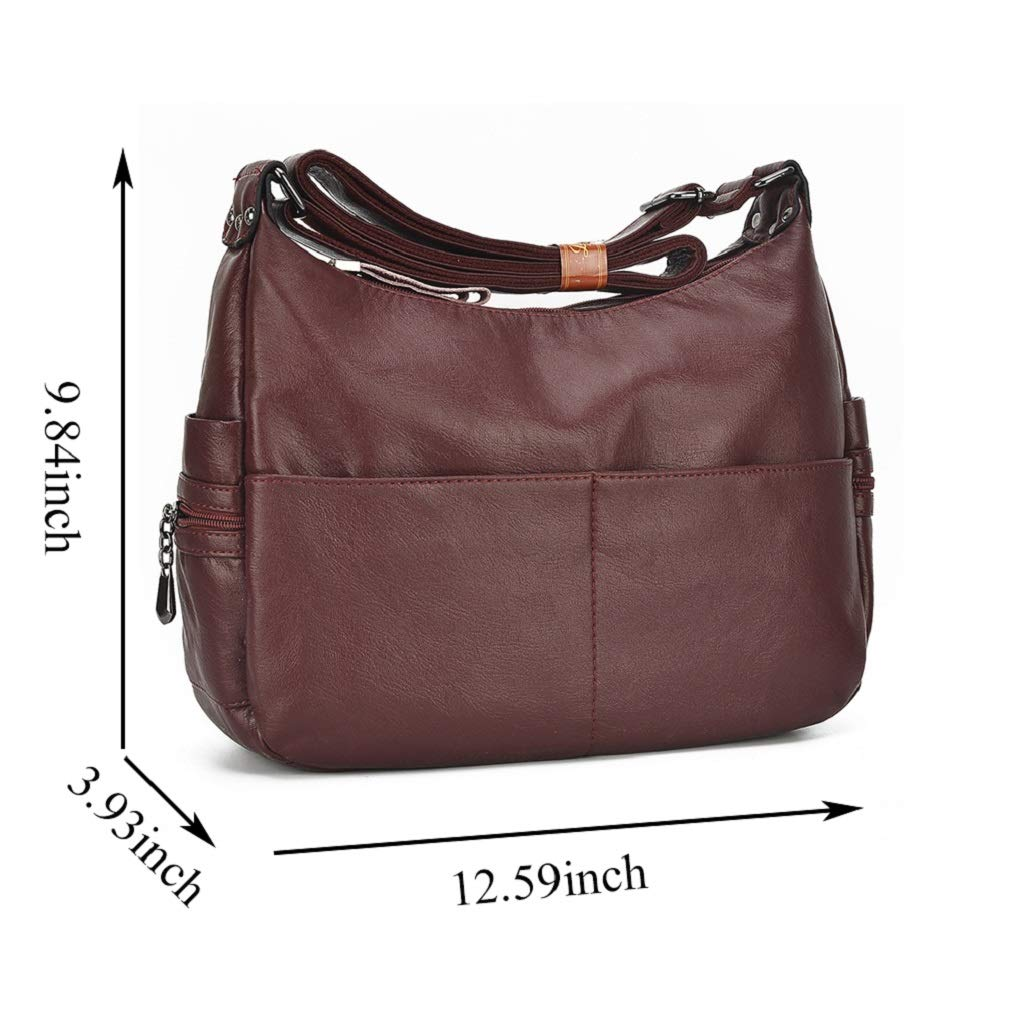 Alovhad Fashion Shoulder Tote Bags Handbag Messenger Hobo Cross Body Bags Purse Soft PU Leather Top Handle Bags for Women (Bronze-Big) by Alovhad (Image #6)