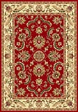 "Spectrumrug Traditional Area Rug, Royal Treasure, 92"" W x 124"" L, Red"