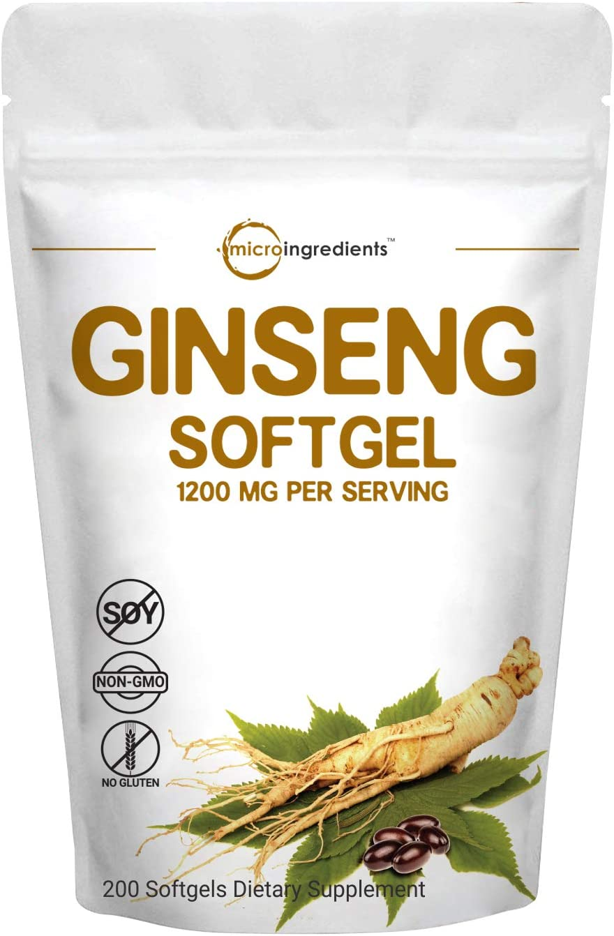 Maximum Strength Panax Ginseng Capsules Ginseng Extract Liquid Softgel