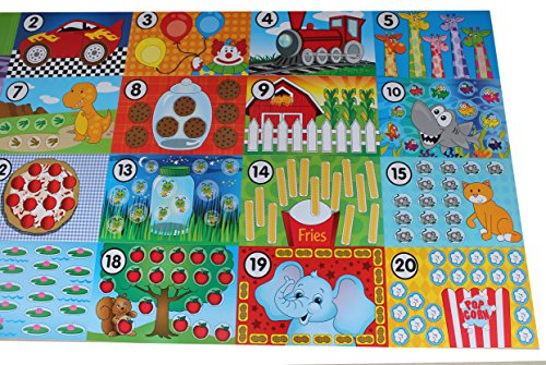 Counting Mats for putty/dough/slime Modelling Compound, - Learning Toy