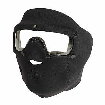 Swiss Eye - Máscara completa de neopreno con gafas para ciclismo, color negro