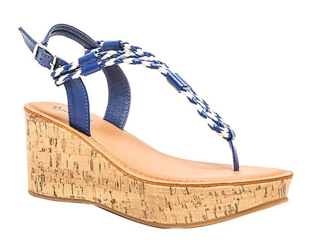 Qupid Women's Bali Strappy Braided Platform Wedge Sandal B06W5BF4WN 6 B(M) US|Cobalt Blue