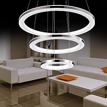 Moderne LED Pendelleuchte Esstisch 148W Led 3-Ring LED Dimmbar ...