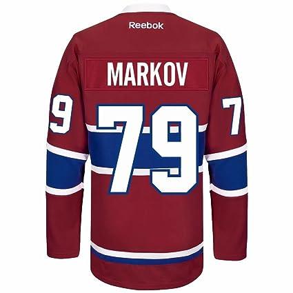 Andrei Markov Montreal Canadiens Reebok Premier Home Jersey NHL Replica 705350011