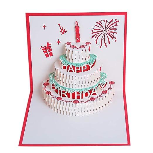 Yunt Tarjeta de cumpleaños Tarjeta de felicitación Torta de ...