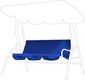 Outdoor Swing Cushion Cover 3 Seater Swing Chair Cushion Replacement Sleeve Swing Seat Pads Cushion Cover Replacement for Patio Garden Yard(Dark Blue