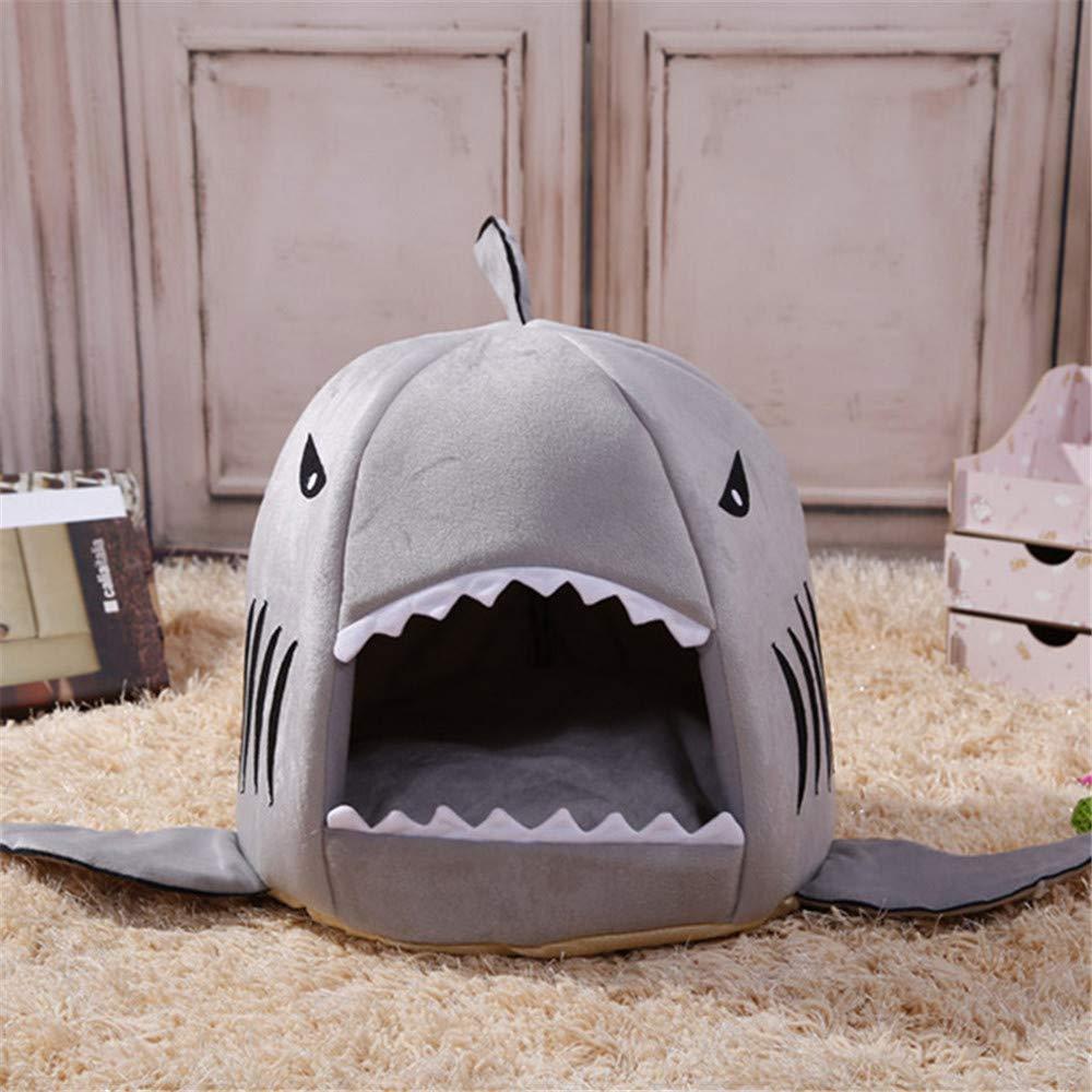 Wuwenw  Prodotti Per Animali Domestici Morbido Dog House Pet Sacco A Pelo Shark Dog Kennel Gatto Cane Letto Cat House 32X32X36Cm
